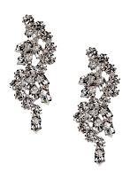 Photo: Boucles d'oreilles REINE ROSALIE, Ornées de cristaux - Mode BE