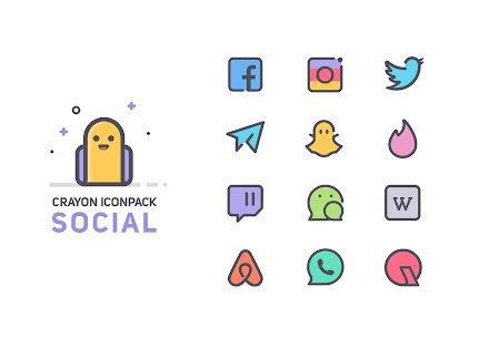 Crayon Icon Pack [Paid] v1.5 3