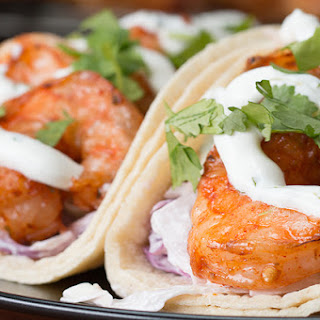 1. Grilled Shrimp Tacos With Creamy Cilantro Sauce