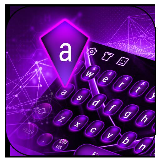 Purple Tech Keyboard Theme