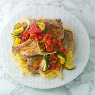 Italian Style Pork Chops With Spaghetti Squash