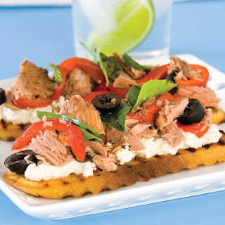 Tuna, Pepper and Olive Bruschetta
