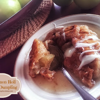 'Cinnamon Roll' Apple Dumplings
