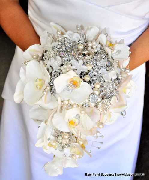 Photo: Cascading Orchid Wedding Bouquet www.bluepetyl.com