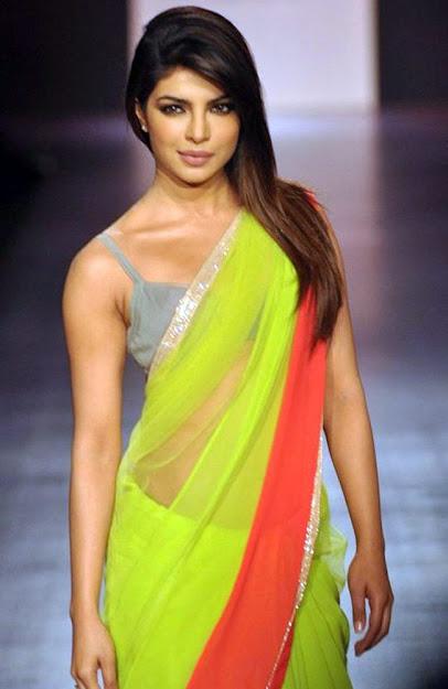 Priyanka Chopra Desi Girl, Priyanka Chopra Saree Ramp Walk