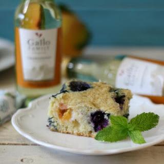 Blueberry Peach Snack Cake