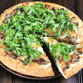 MUSHROOM PIZZA WITH CARAMELIZED ONIONS