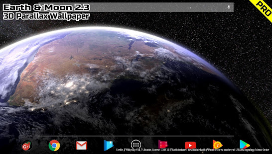 3d Parallax Weather Live Wallpaper Earth Amp Moon In Hd Gyro 3d Pro Parallax Wallpaper Apps