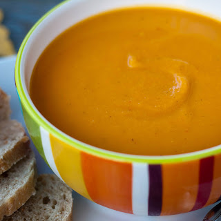 Spicy Pumpkin, Squash and Apple Soup