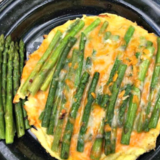 Asparagus and Cheddar Omelettes.