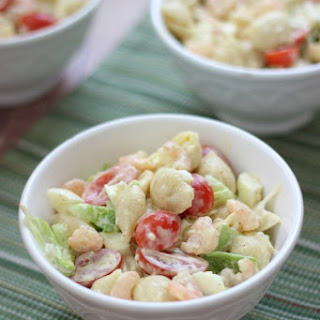 Boiled Shrimp Pasta Salad