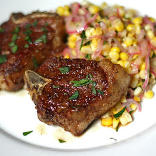 Spice Rubbed Lamb Chops with Corn Salad