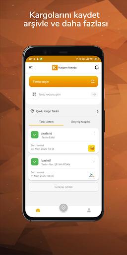 Kargom Nerede - Hepsi Bir Arada Kargo Takip 4.0.2 screenshots 1