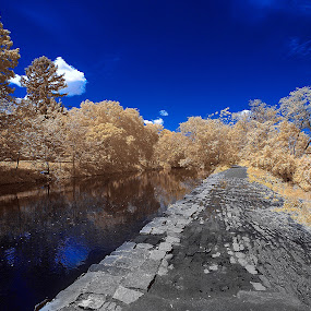 Towpath by Angel Escalante - Landscapes Waterscapes ( ir, ir photography, landscapes, life pixel )