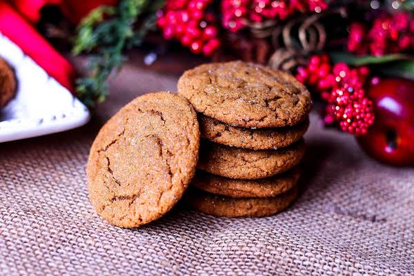 A Stacky Of Chewy Molasses Cookies.
