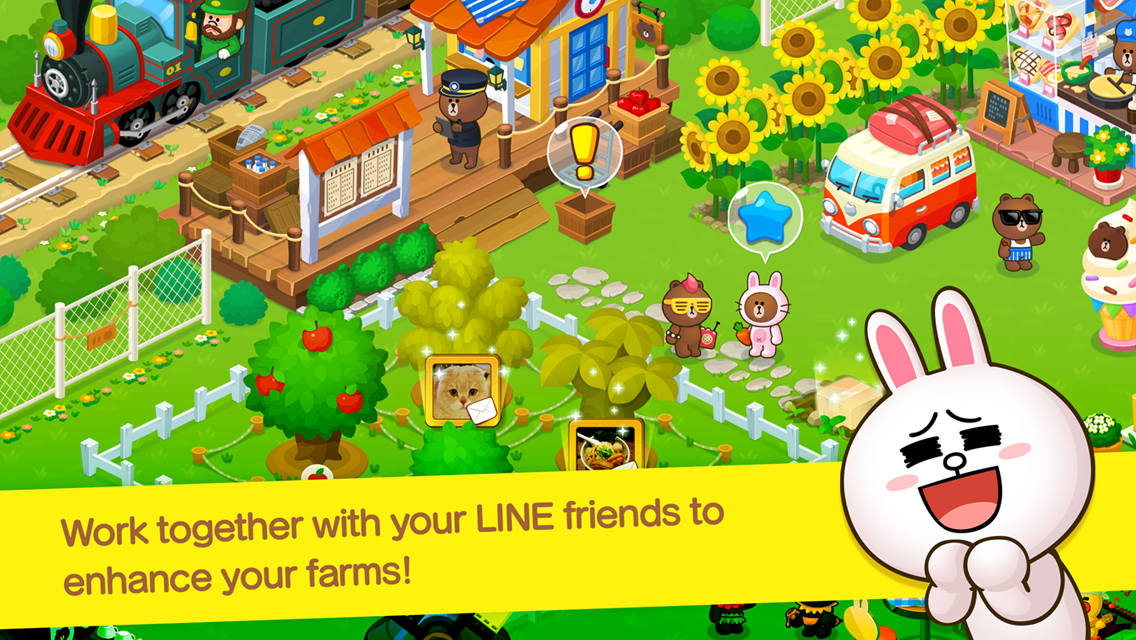 Screenshots of LINE BROWN FARM for iPhone