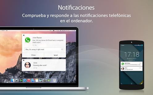 AirDroid - Android on Computer: miniatura de captura de pantalla