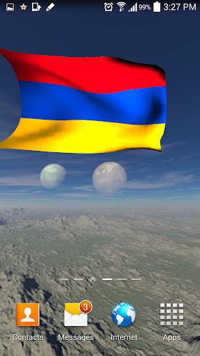3D Armenia Flag Live Wallpaper