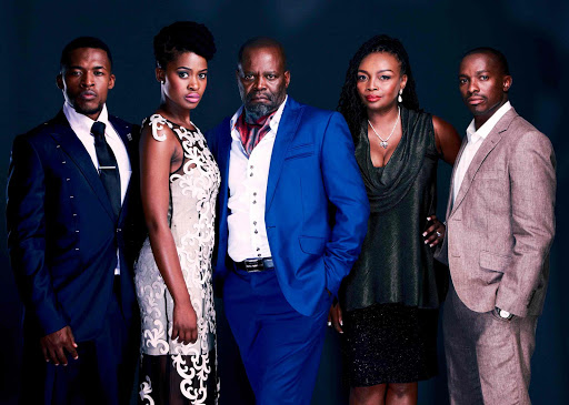 COMEBACK: Some of South Africa's better-known actors are going to be part of the new e.tv drama series, 'Ashes to Ashes'. From left: Nyaniso Dzedze, Zenande Mfenyana, Patrick Shai, Nambitha Mpumlwana and Chumani Pan Picture: SUPPLIED