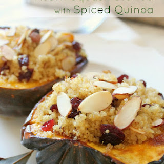 Acorn Squash Stuffed with Spiced Quinoa