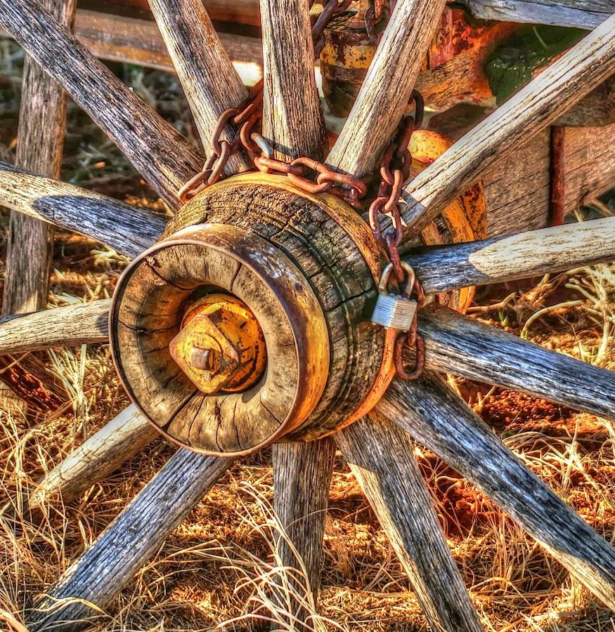 Inner Wheel by D.M. Russ - Artistic Objects Antiques ( wheel, center wheel, wagon wheel, art, artistic, old wheel, d.m. russ, photography )