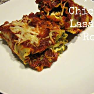 Pesto Chicken Lasagna Rolls.