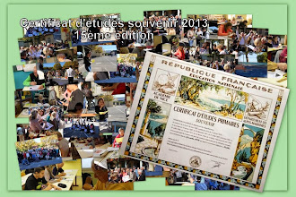Photo: Le 12 octobre 2013 a eu lieu la 15ème édition du Certificat d'études souvenir dans l'école Paul Arène à Antibes. Pour la 1ère fois, les collèges étaient représentés : en effet des élèves de 3ème étaient parmi les adultes fidèles ou nouveaux de cette manifestation traditionnelle et, cette année encore, bien sympathique. (Photos : Mr Tremoulet - S. Chanéac)