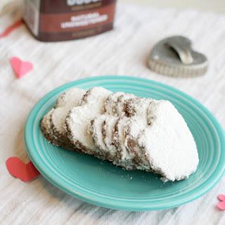 Chocolate Almond Meal Heart Cookies..