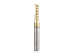 """Amana Tool 51377-Z Solid Carbide ZrN Coated Flat End Mill for Aluminum 1/4"""" SH, 1/4"""" D"""
