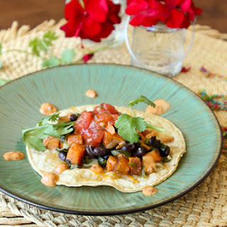 SOL's Sweet Potato and Black Bean Taco