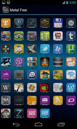 Metal Free(APEX NOVA GO THEME) 1.5.0 screenshots 8