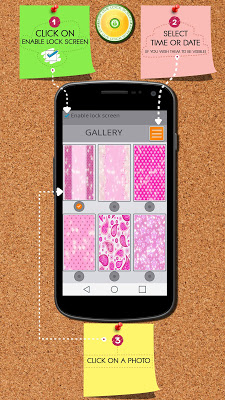 Cute Pink Zipper Lock Screen - screenshot