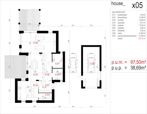 House X05 - Rzut parteru