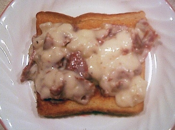 Creamed Chipped Beef On Toast (sos) Recipe