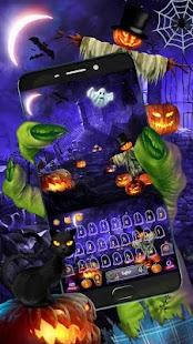 Pumpkin Halloween Keyboard Theme - náhled