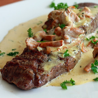 Oven Baked Beef with Mustard-Mushroom Sauce