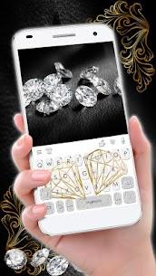 Gold Diamond Keyboard Theme 1.0 Mod APK (Unlimited) 2