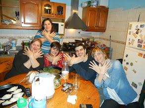 Photo: Liliana, Yanina, Manini, Ives, Analia (ma famille argentine de Buenos Aires)