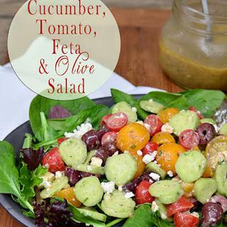Cucumber, Tomato, Feta & Olive Salad