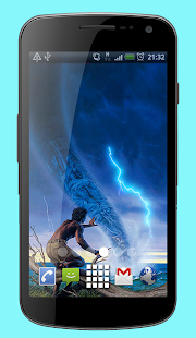 Waterspout Twister Tornado Live Wallpaper Theme - náhled