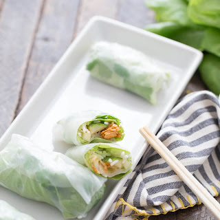 Easy Spring Roll Recipe with Salmon.