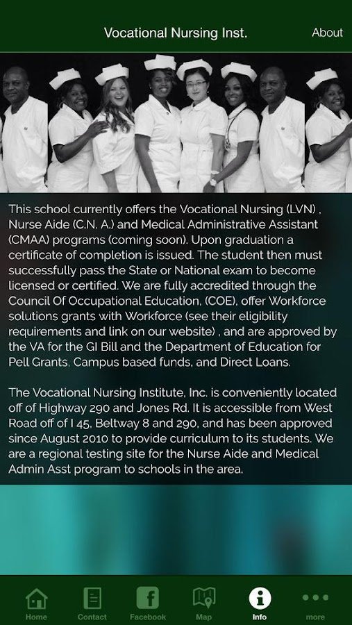 Vocational Nursing Inst.- screenshot