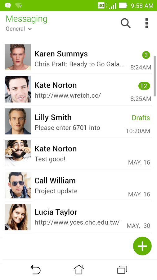 Screenshots of ASUS Messaging - SMS & MMS for Android