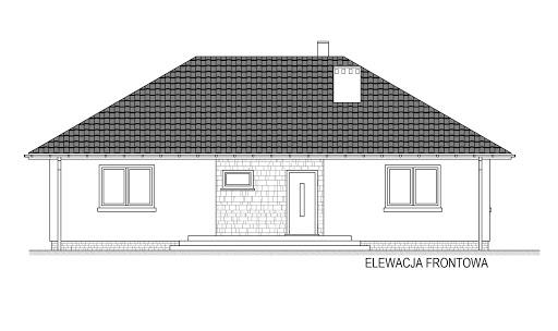 Domek Mokka 053 ES - Elewacja przednia