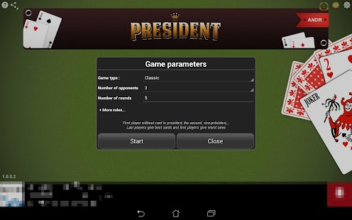 president cards game online