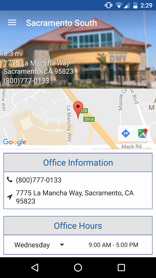 Find Nearest Department Motor Vehicles