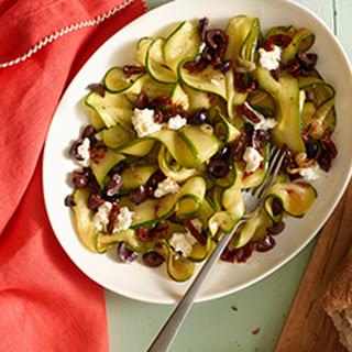 Zucchini Ribbons with Kalamata Olives & Sundried Tomatoes