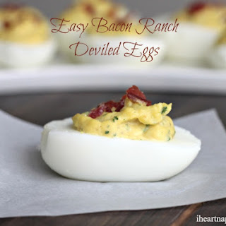 Easy Bacon Ranch Deviled Eggs