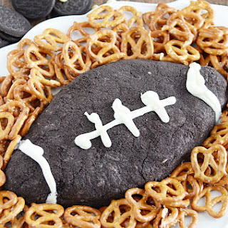 Cookies & Cream Cheese Ball Football