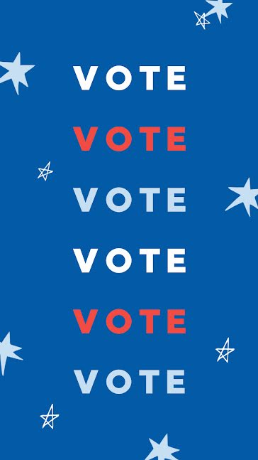 Vote Red White & Blue - Facebook Story template